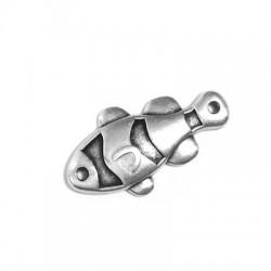 Μεταλλικό Ζάμακ Χυτό Στοιχείο Ψάρι για Μακραμέ 25x13mm