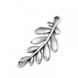 Intercalaire Branche d'Olive en Métal/Zamak 37x17mm (Ø 1,3mm)