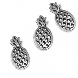 Zamak Charm Pineapple 12x25mm