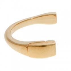 Demi-Bracelet en Métal/Zamak de diamètre intérieure 46mm avec Fermoir Aimanté pour du cuir de 5mm plat (Ø 5,2x2,2mm)