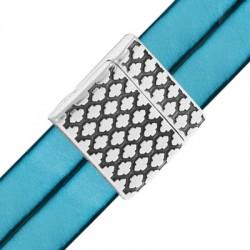 Zamak Magnetic Clasp Rhombus Designs 24mm (Ø 20.2x2.2mm)