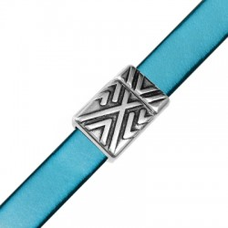 Zamak Magnetic Clasp with Geometrical Lines 14x20mm (Ø 10.2x2.2mm)