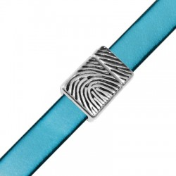 Zamak Magnetic Clasp with Fingerprint 14x20mm (Ø 10.2x2.2mm)