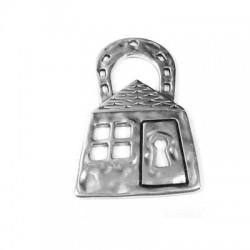 Zamak Pendant House Locker 30x51mm
