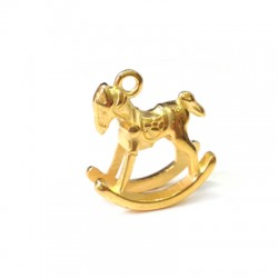 Zamak Charm Rocking Horse 20x16mm