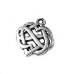 Pendentif Symbole Celte Infini + Cœur en Métal/Zamak 20mm