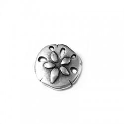 Μεταλλικό Ζάμακ Χυτό Μοτίφ Στρογγυλό Λουλούδι της Ζωής 21mm