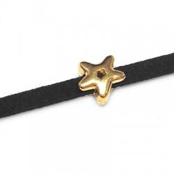Passant Étoile en Métal/Zamak 8mm (Ø 3,2x2,2mm)