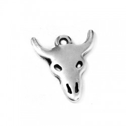 Zamak Charm Bull Head 16x18mm