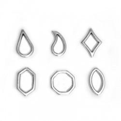 Zamak Charms Geometrical 6 Mixed Pieces