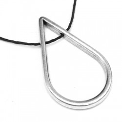 Zamak Pendant Drop Hollow with Side Holes 21x35mm (Ø 1.5mm)
