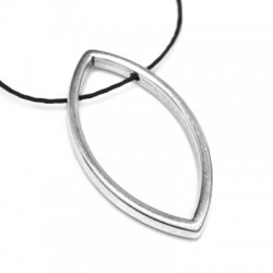 Zamak Pendant Oval Hollow with Side Holes 20x36mm (Ø 1.5mm)