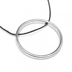 Pendentif Cercle avec 2 trous en Métal/Zamak 32/ 3,5mm (Ø 1,5mm)