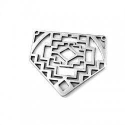 Μεταλλικό Ζάμακ Χυτό Μοτίφ Έθνικ Πεντάγωνο 29x35mm (Ø1.2mm)