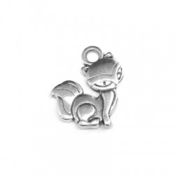 Zamak Charm Fox 13x14mm