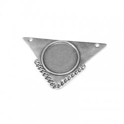 Pendentif Triangulaire avec Trous en Métal/Zamak 54x32mm (Ø1,8mm)