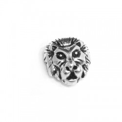 Zamak Bead Lion Head 12mm (Ø 1.8mm)