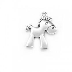Zamak Charm Horse 19x21mm