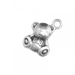 Zamak Charm Teddy Bear 10x11mm