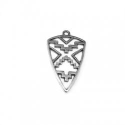 Pendentif Triangle Éthnique en Métal/Zamak 18x27mm