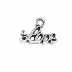Zamak Charm 'Love' 12x6mm