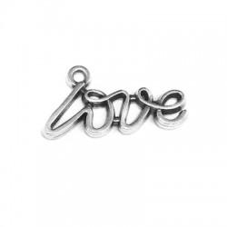 Zamak Charm 'Love' 18x6mm