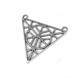 Pendentif Triangulaire en Métal/Zamak 33x30mm
