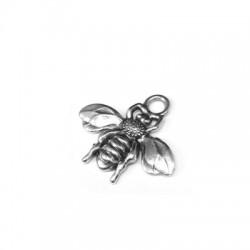 Zamak Charm Bee 22x17mm