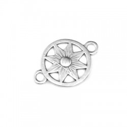 Intercalaire rond avec étoile en Métal/Zamak 16x15mm