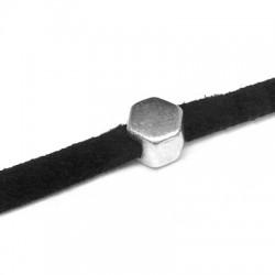 Μεταλλικό Ζάμακ Στοιχείο Εξάγωνο Περαστό 6mm (Ø3.2x2.2mm)