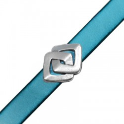 Zamak Slider Rhombus Knot 20x15mm (Ø 10.2x2.2mm)
