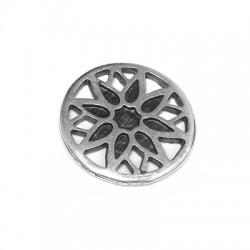 Μεταλλικό Ζάμακ Χυτό Στοιχείο Στρογγυλό Λουλούδι 22mm
