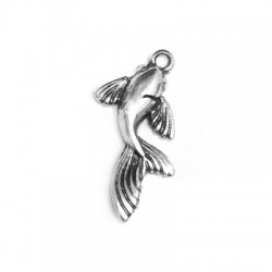 Zamak Charm Fish 11x22mm