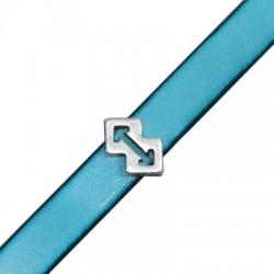 Zamak Slider Ethnic Arrow 9x14mm (Ø 10.2x2.2mm)