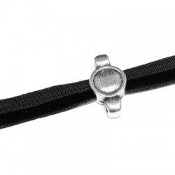 Zamak Slider with 3 Holes 9x17mm - Setting SS34 (Ø 2.1mm and 5x2mm)