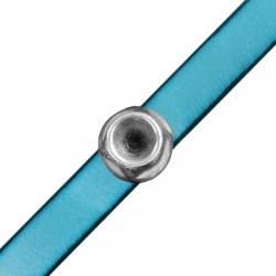 Passant rond en Métal/Zamak 14mm (Ø 10,2x2,2mm) avec support pour cristal SS39