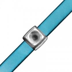 Passant carré en Métal/Zamak 14mm (Ø 10,2x2,2mm) avec support pour cristal SS39