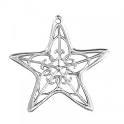 Μεταλλικό Ζάμακ Χυτό Μοτίφ Αστέρι 65mm (Ø2.7mm)