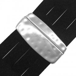 Zamak Magnetic Clasp Irregular Hammered 22x45mm (Ø 40x2.2mm)