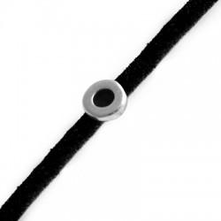 Μεταλλικό Ζάμακ Στοιχείο Στρογγυλό Περαστό 6mm (Ø3.2x1.8mm)