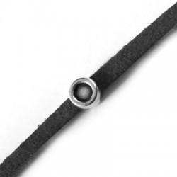 Μεταλλικό Ζάμακ Χυτό Στοιχείο Στρογγυλό Περαστό 5mm με Υποδοχή 4mm (Ø3.2x1.7mm)