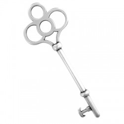 Zamak Pendant Key 28x75mm