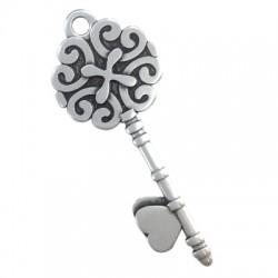 Μεταλλικό Ζάμακ Χυτό Μοτίφ Κλειδί 66x29mm