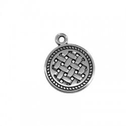 Zamak Charm Round Celtic Symbol 16mm