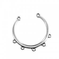 Zamak Pendant Open Circle 34x32mm with 5 Loops