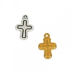 Breloque croix en Métal/Zamak 12x16mm