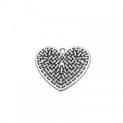 Μεταλλικό Ζάμακ Χυτό Μοτίφ Καρδιά 25x29mm