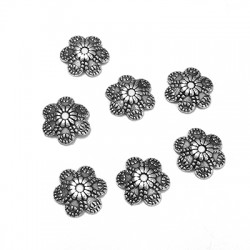 Zamak Bead Cap Flower 9mm  (Ø 1.3mm)