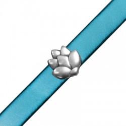 Μεταλλικό Ζάμακ Περαστό Στοιχείο Λωτός 14x15mm (Ø10.2x2.2mm)