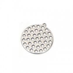 Ciondolo in Zama Disco Traforato 30mm